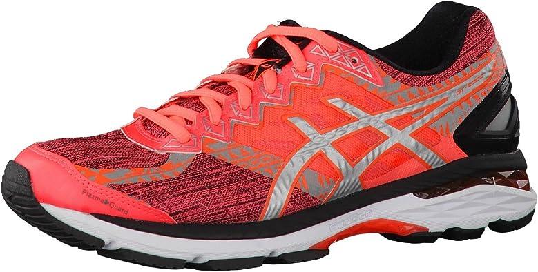 Asics - Gt-2000 4 Lite-Show plasmaguard - Zapatillas Running de Estabilidad - Flash Coral/Silver/Black: Amazon.es: Zapatos y complementos