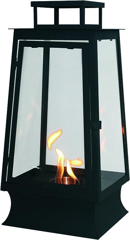 PURLINE MYSTIC Biochimenea farol con vidrio templado para uso ...