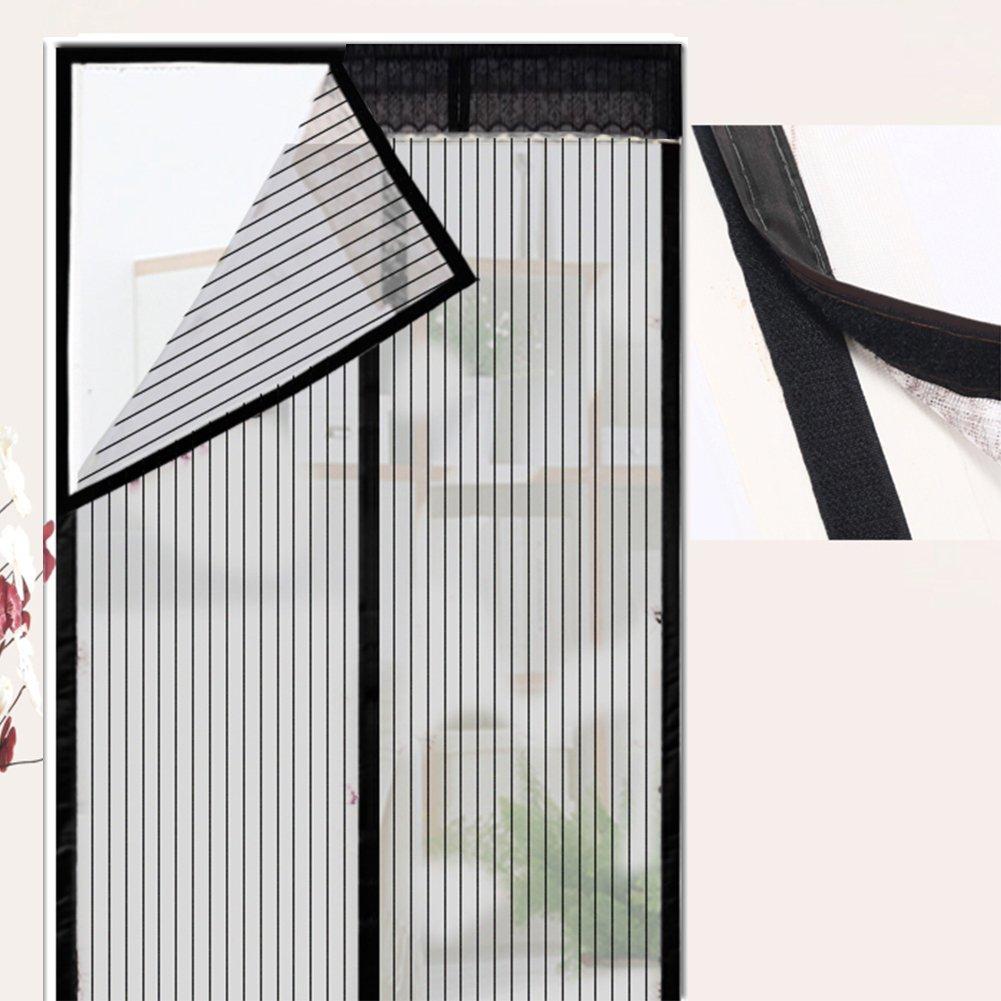 100x220cm Extsud Moustiquaire de Porte Magn/étique Fermeture Automatique Rideau Porte Anti insectes avec Aimants et Bande Adhesive Sans Per/çage