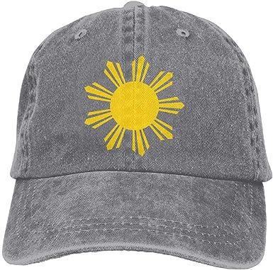Tribal Philippines Filipino Sun and Stars Flag Fashion Adjustable Cotton Baseball Caps Trucker Driver Hat Outdoor Cap Black