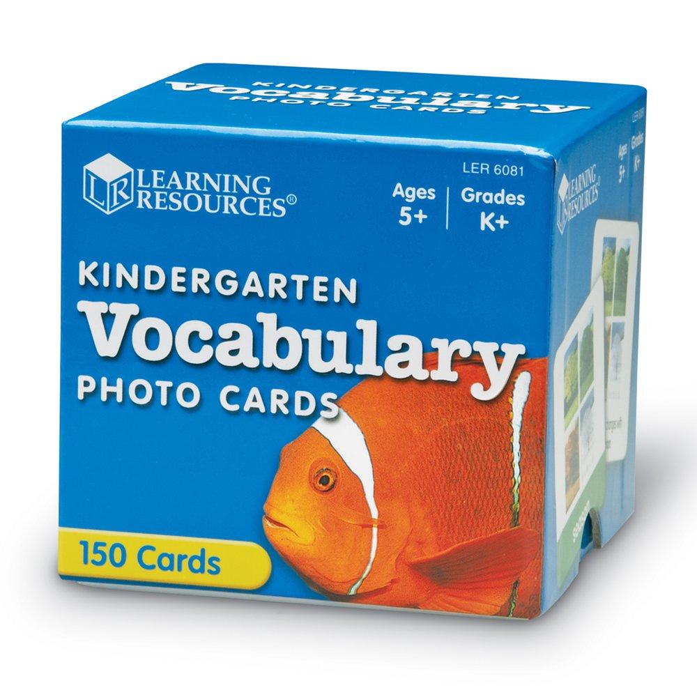 Amazon.com: Learning Resources Kindergarten Vocabulary Photo Cards ...