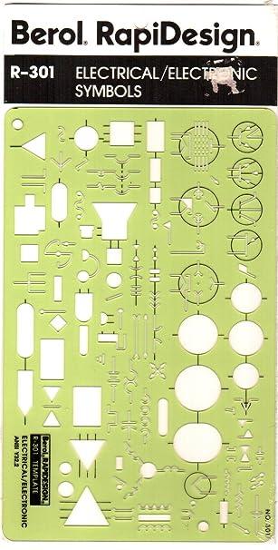 Amazon.com : Berol, RapiDesign, R-301, Electrical/Electronic ...