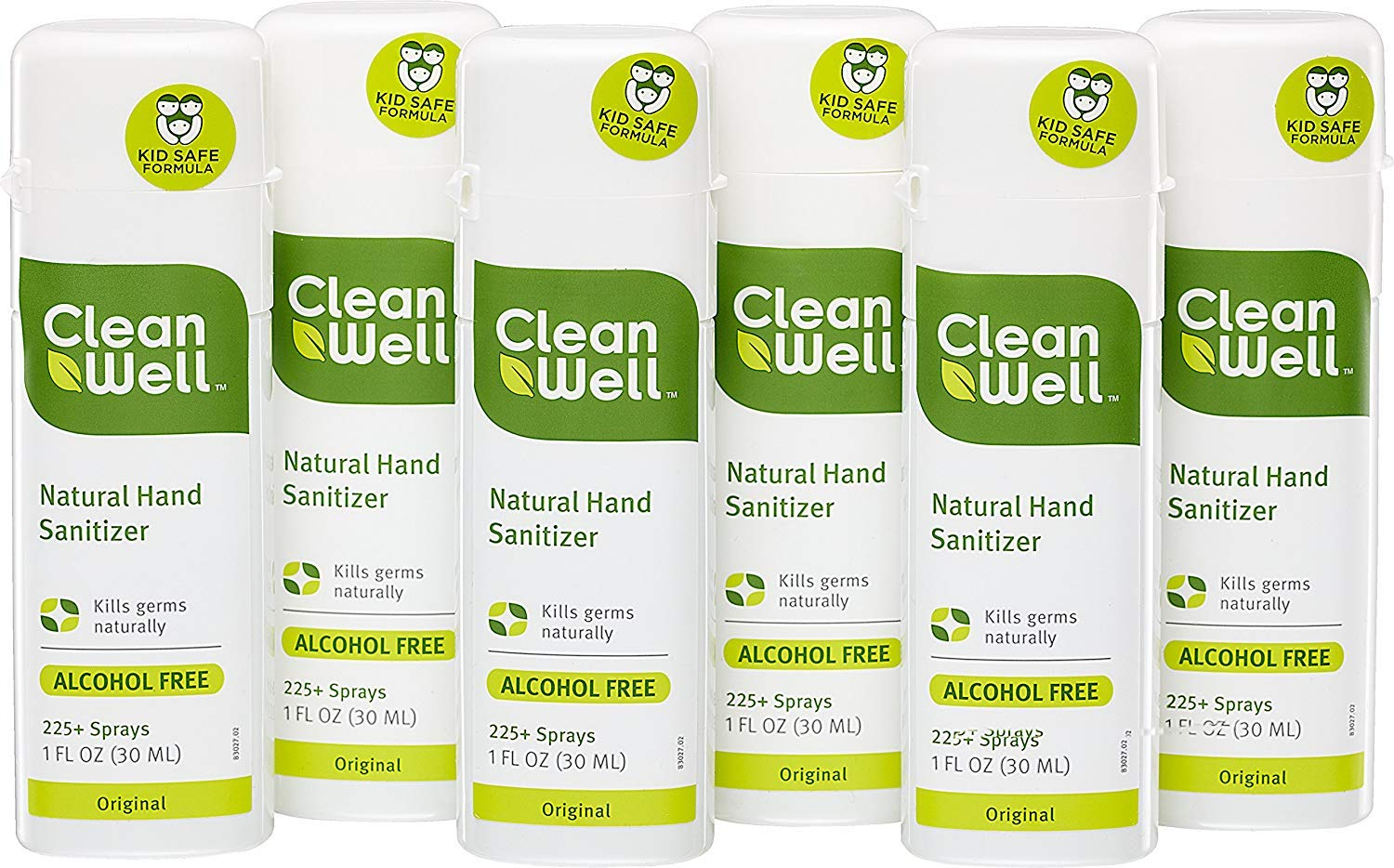 CleanWell Natural Hand Sanitizer Spray - Original Scent, 1 Ounce (Pack of 6) by Cleanwell (Image #2)