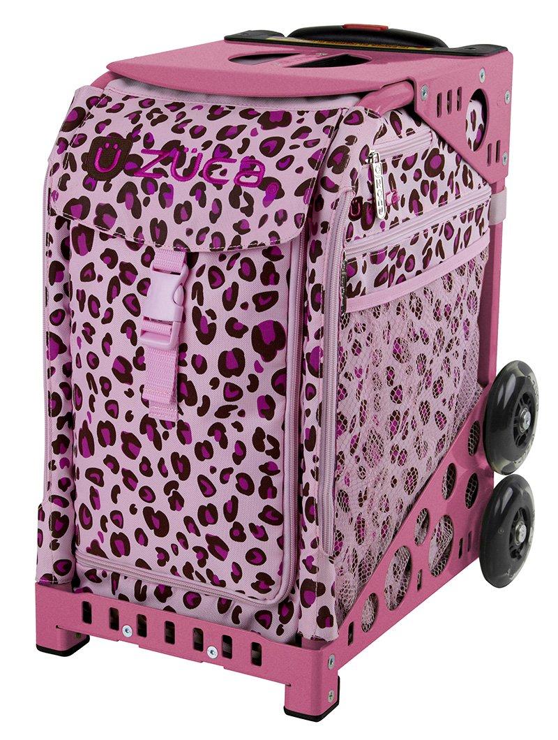 Zuca Pink Leopard Bag - choose your frame color!