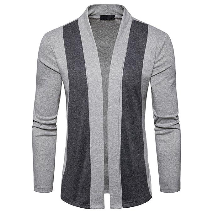 Paellaesp resorte de los hombres casual patchwork Cardigan punto de tejer abrigo chaqueta 2018 nuevo moda