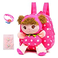 Suerico Cute Toddler Backpack Plush Doll Toy Snack Travel Bag Preschool Shoulder...