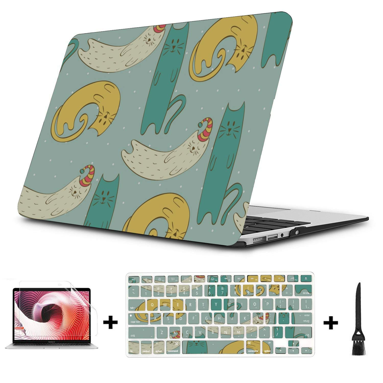 MacBook Cover 15 Inch Sophisticated Cute Cartoon Painting Plastic Hard Shell Compatible Mac Air 11 Pro 13 15 Mac Book Air Cover Protection for MacBook 2016-2019 Version