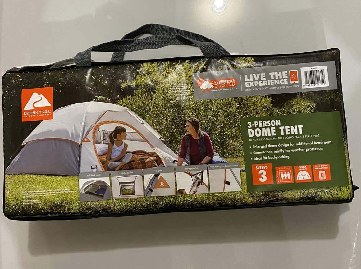 Ozark Trail 3 Person Camping Dome Tent Sports Outdoors