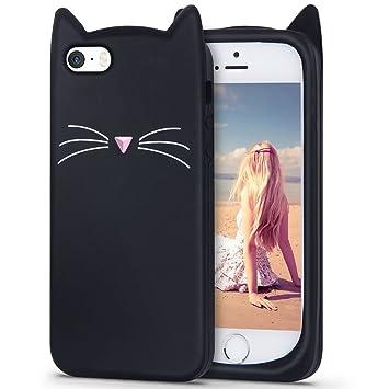 f5637a7237 iPhone SE ケース,Imikoko iPhone5s ケース iPhone5 ケース シリコン かわいい 黒猫 ねこ 衝撃 ディズニー