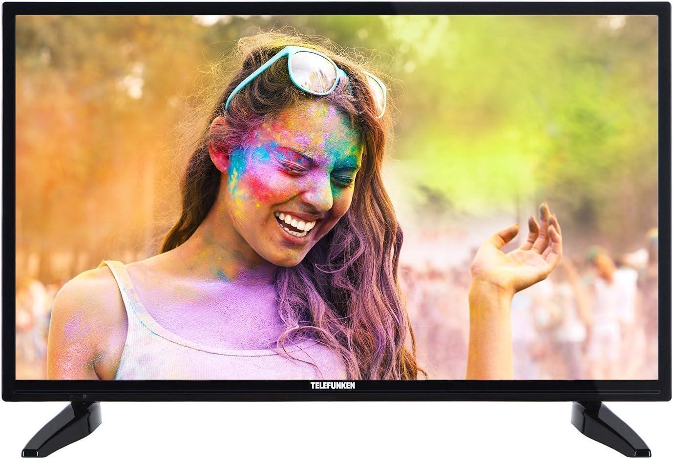 Telefunken xf32b100 81 cm (32 Pulgadas) televisor (Full HD, sintonizador Triple), Color Negro: Amazon.es: Electrónica