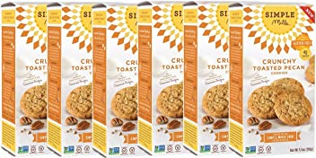 Simple Mills Crunchy Cookies, Toasted Pecan, Naturally Gluten Free, 5.5 oz, 6 count