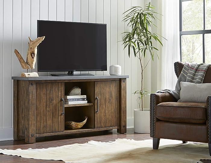 "Martin Furniture IMJA360 60"" TV Console, Brown"