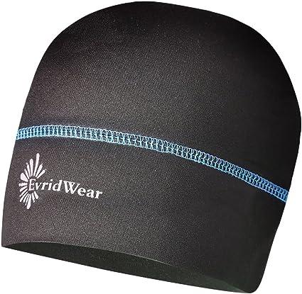 EvridWear Skull Cap Running Beanie Reflective Quick Dry Sports Cap Sweat Cap