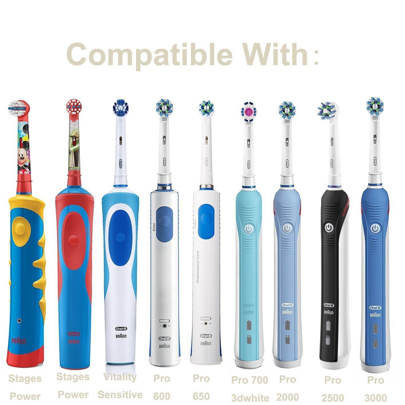 Progoco - Soporte de plástico para cargador de cepillo de dientes eléctrico y cabezales Oral B, Set 2: Amazon.es: Hogar