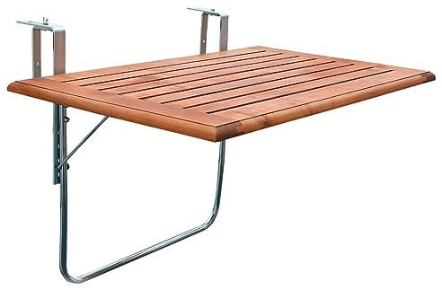 Balkonklapptisch  Amazon.de: Videx 16501 Balkonklapptisch, Holzplatte, 50 x 100cm