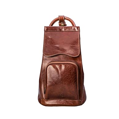 7289ab0bd63 Maxwell Scott Personalized Luxury Tan Leather Shoulder Backpack (Carli) -  One Size