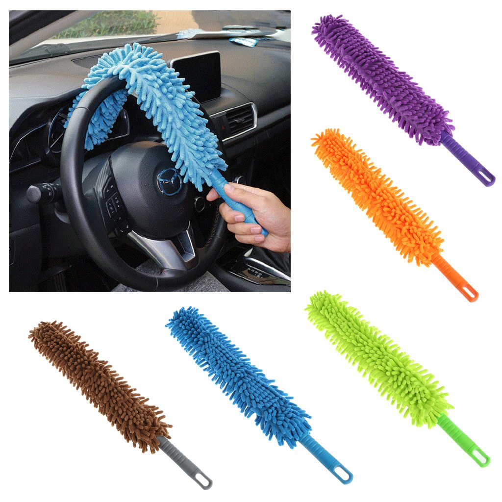 Amazon.com: Microfibre Duster Handheld Dusting Cleaner Dust Cleaning Tool Office Home Car (Blue): Health & Personal Care