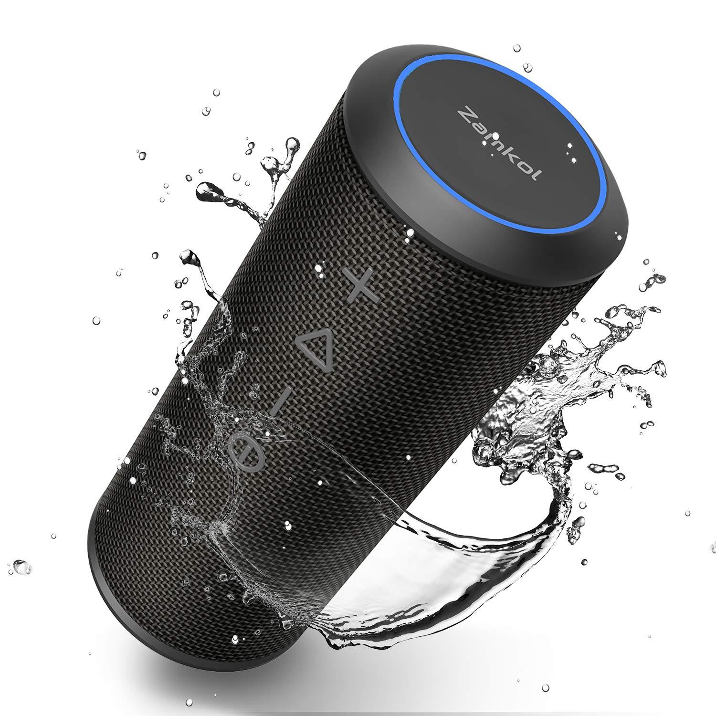 Altavoz Bluetooth, Zamkol Altavoz Inalámbrico Portátil, 24W 360° Sonido Estéreo con Doble Driver, TWS Funcion con Micrófono y Manos Libres, ...