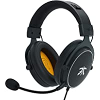 Cuffie da gioco Fnatic REACT per PS4/PC con driver da 53 mm, audio stereo surround e controlli in linea, di tipo Over-Ear con padiglioni in Soft Memory, per Xbox One/Disposotivi Mobili/Switch/Mac