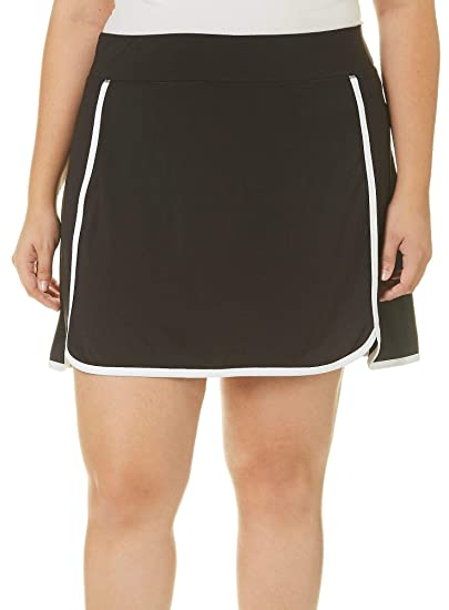 4b05eb5ed9d Image Unavailable. Image not available for. Color  Reel Legends Plus Keep  It Cool Solid Contrast Trim Skort ...