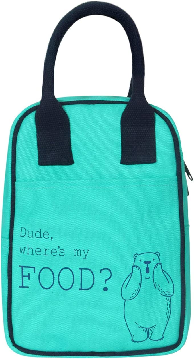EcoRight Insulated Lunch Bag for Office Men, Women and Kids, Quality Canvas Tiffin Bag for School, Picnic, Work, Carry Bag for Lunch Box | Hungry Polar Bear | 0708S32
