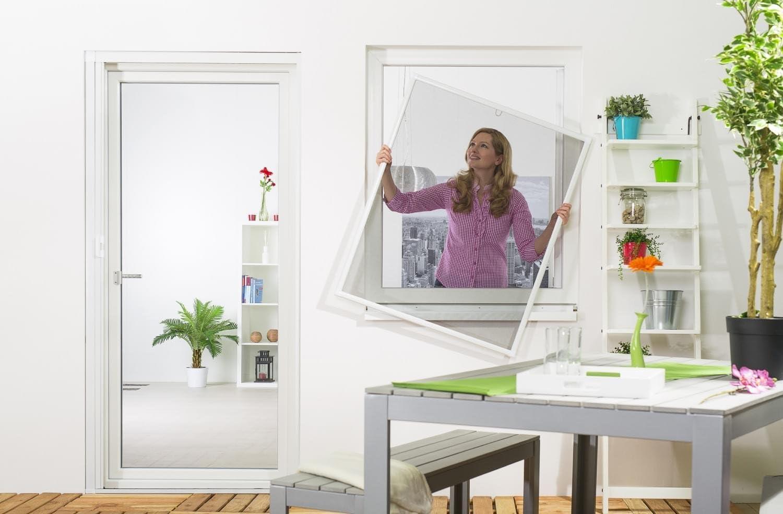 Moustiquaire Fen/être Moustiquaire Cadre en Aluminium Basique Blanc 120 X 140 cm Ensemble de Deux
