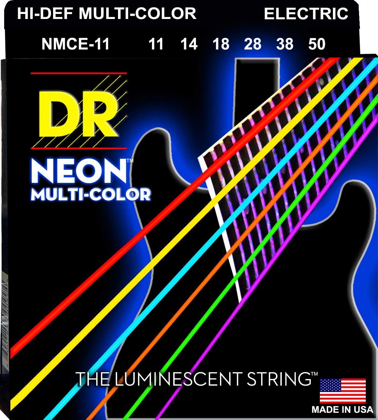DR Strings Hi-Def Neon Multi Color Eléctrico Pesado