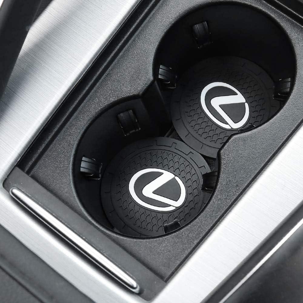 Vehicle Travel Auto Cup Holder Insert Coaster Anti Slip Cup Mat for Lexus 2.75 Inch 2 Pcs Lexus Accessories