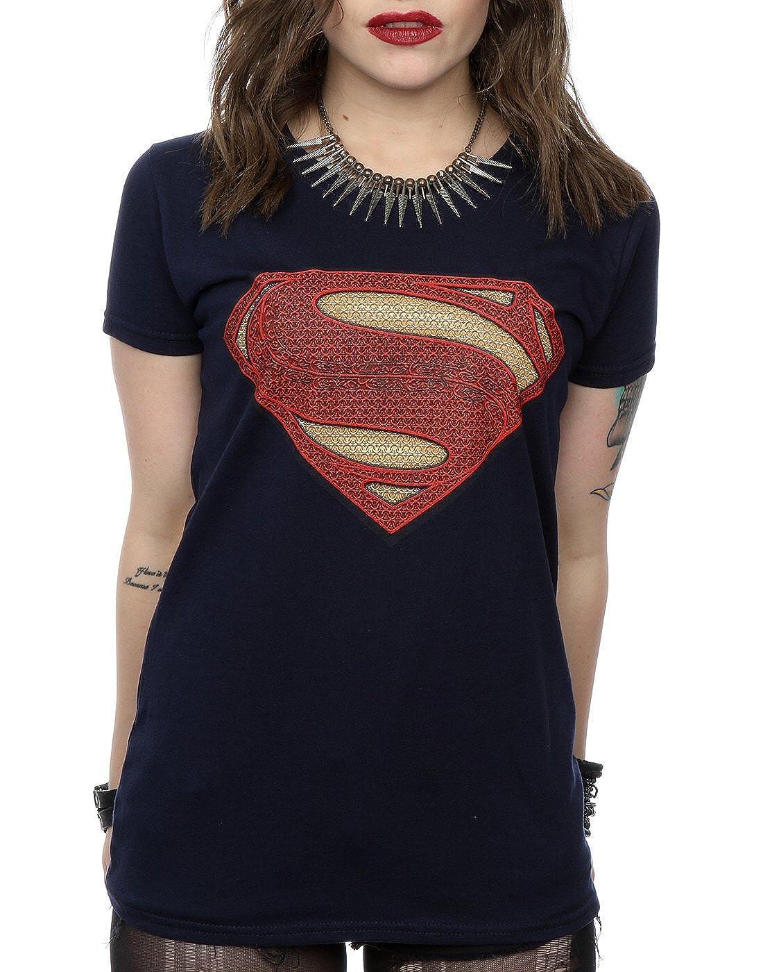 DC Comics Mujer Superman Man of Steel Logo Camiseta: Amazon.es: Ropa y accesorios
