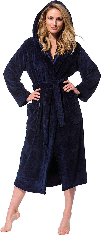 Morgenstgern Albornoz para Mujer Capucha, bambú, algodón
