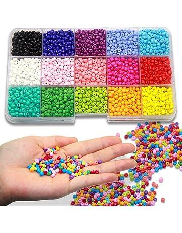 Ewparts 3mm Mini cuentas de cristal para los niños DIY Bracelet Arte y joyería-Making