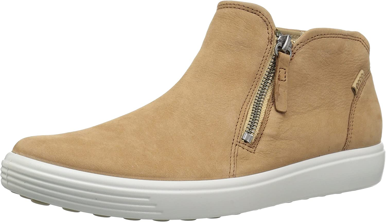 Ecco Womens Soft 7 Low Cut Zip Fashion Sneaker