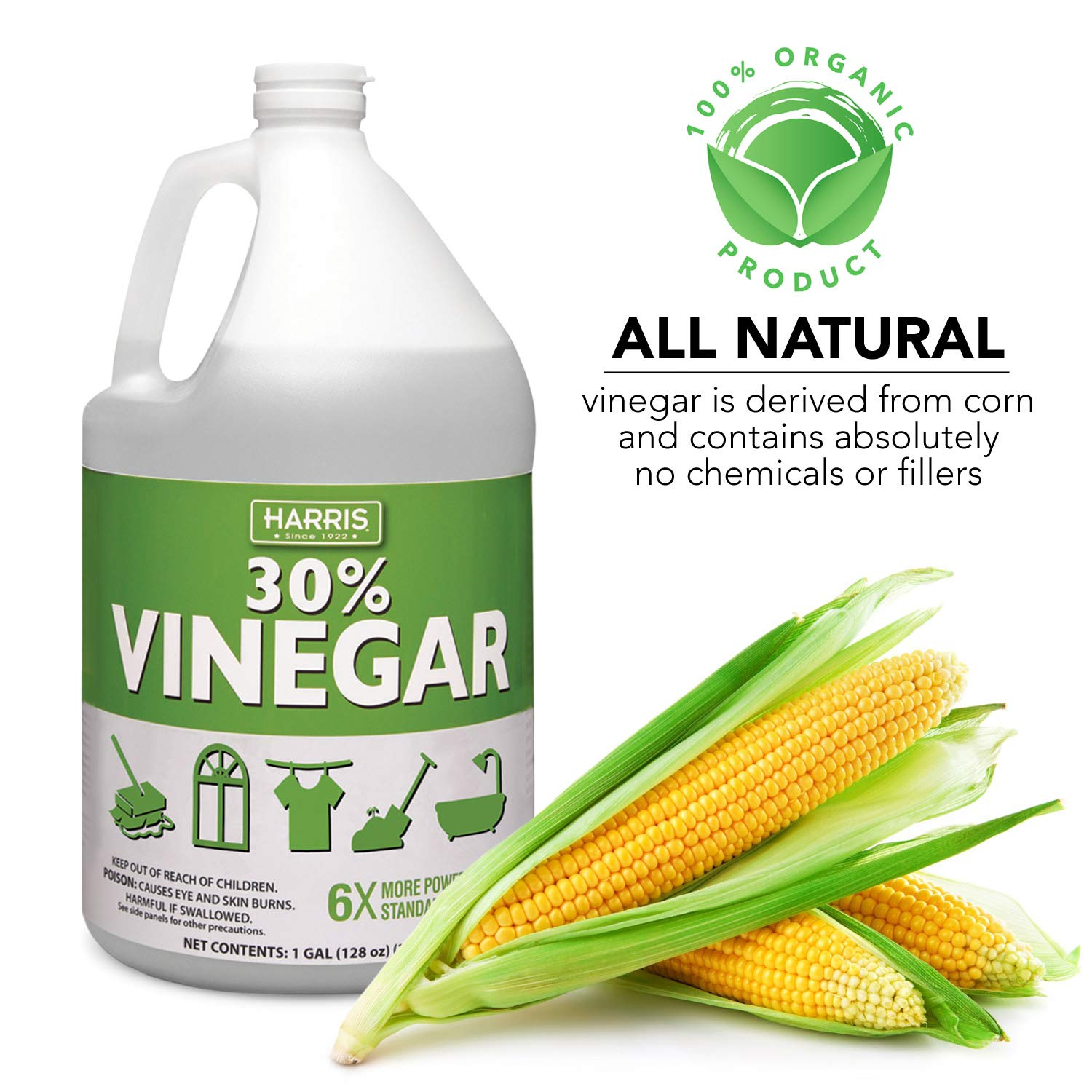 Harris 30% Vinegar, Extra Strength with Trigger Sprayer Included, Gallon by Harris (Image #3)