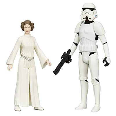 Star Wars Mission Series Luke Skywalker in Stormtrooper Disguise and Princess Leia Action Figures: Toys & Games