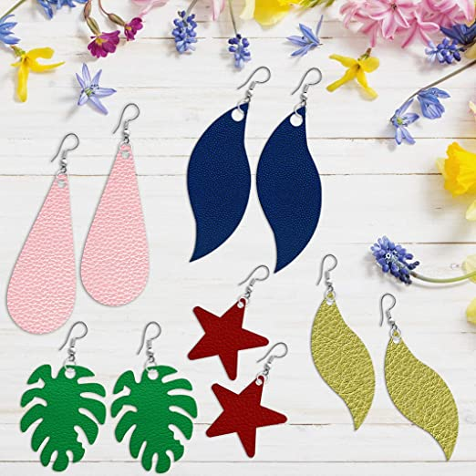 8.3x6.7 Inches 12 Pieces Bows Earrings Making Templates Cutting Stencil for DIY Making Earrings Hair Bows Jewelry Crafts Favors