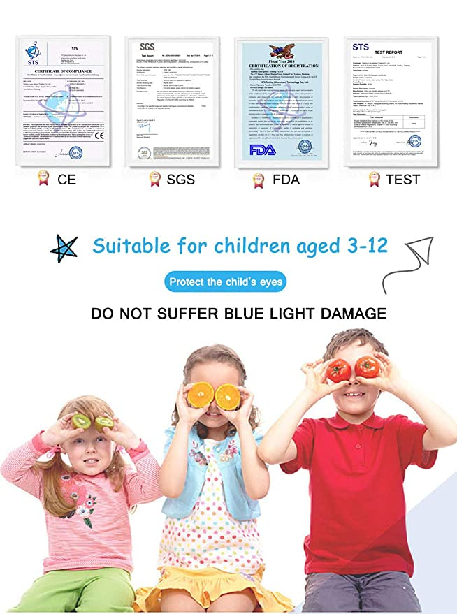 Niños Gafas de computadora Gafas de videojuegos Gafas de bloqueo de luz azul para niños Gafas antiescaras: Amazon.es: Salud y cuidado personal