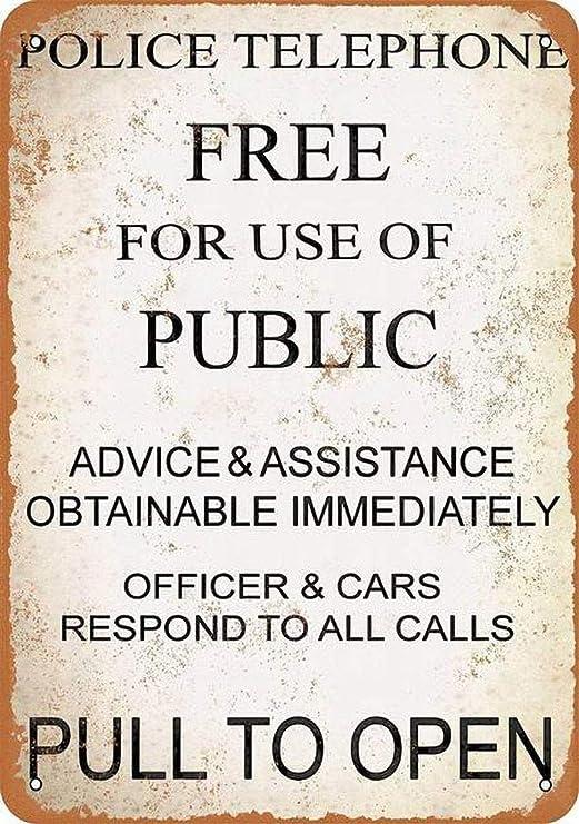 YDFOR Policía Gratis Uso de teléfono público Decoración de ...