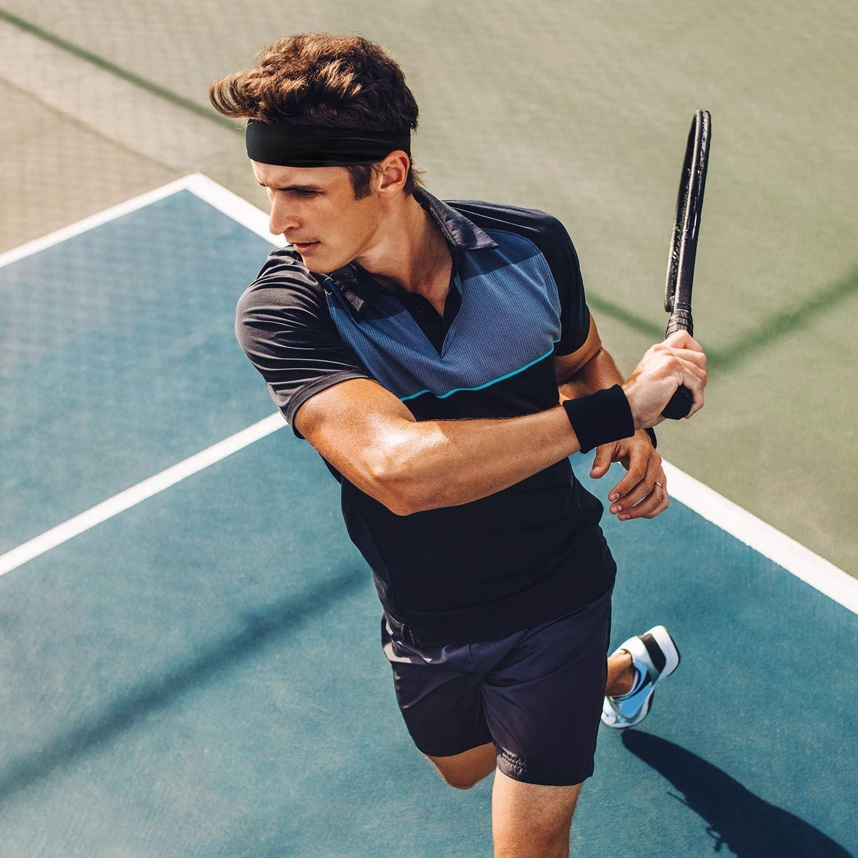 3PCS Cotton Elastic Non Slip Sweat Bands for Running Workout Yoga Sport Headbands Headbands For Men and Women