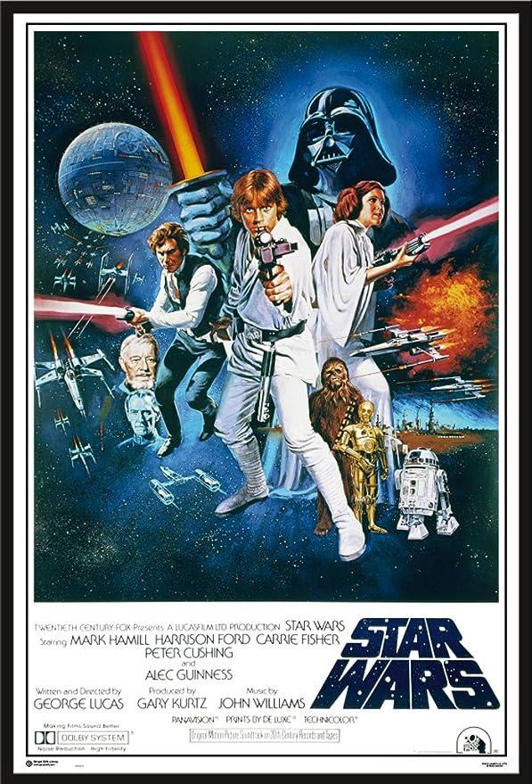 Amazon.de: Star Wars - Orange Sword Of Darth Vad - Filmposter Kino ...