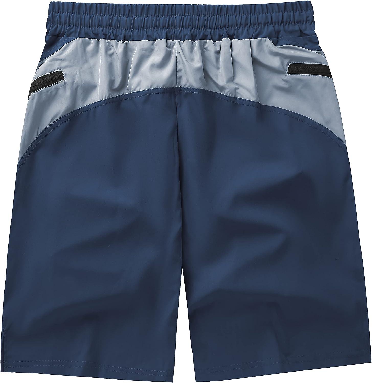 GEEK LIGHTING Mens Shorts Casual Comfortable Workout Shorts Drawstring Zipper Pockets Elastic Waist at  Men's Clothing store