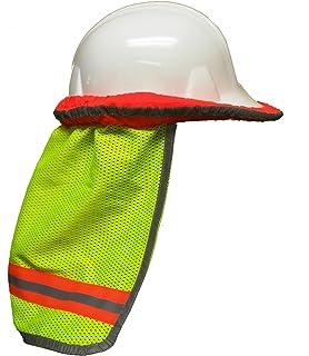 safety depot high visibility reflective hard hat neck sun shade meets ansi u0026 nfpa 701