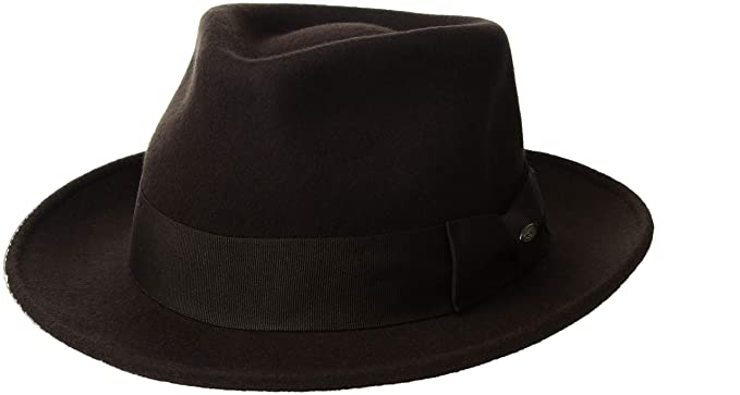 6ad41c742b5 Image Unavailable. Image not available for. Color  Scala Classico Men s Wool  Felt Fedora with Grosgrain Hat