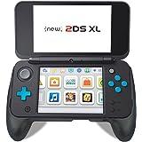 Bullspring Nuevo Nintendo 2DS XL Grip, Comfort Hand Grip para su nuevo Nintendo 2DS XL / LL (Negro)