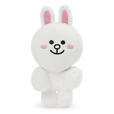 "GUND LINE Friends Cony Dangler Hanging Plush Stuffed Animal Rabbit, White, 6"": Toys & Games"