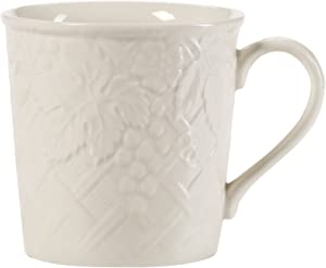 Mikasa English Countryside Coffee Mug, 11-Ounce, Set of 4, White - DP900-415