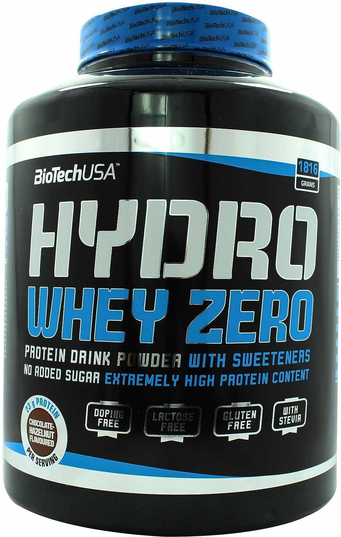 BioTech Hydro Whey Zero Proteínas Sabor Chocolate y Hazelnut - 1816 gr
