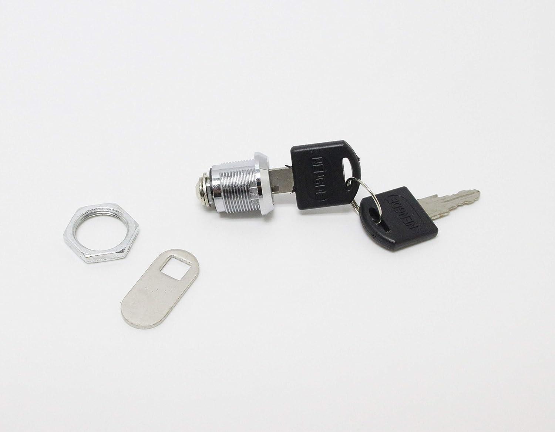 Model 2400AS FixtureDisplays Set of 3 Pcs Tubular Cam Lock Keyed Alike #0501 New 1040LOCK 5//8 Cylinder
