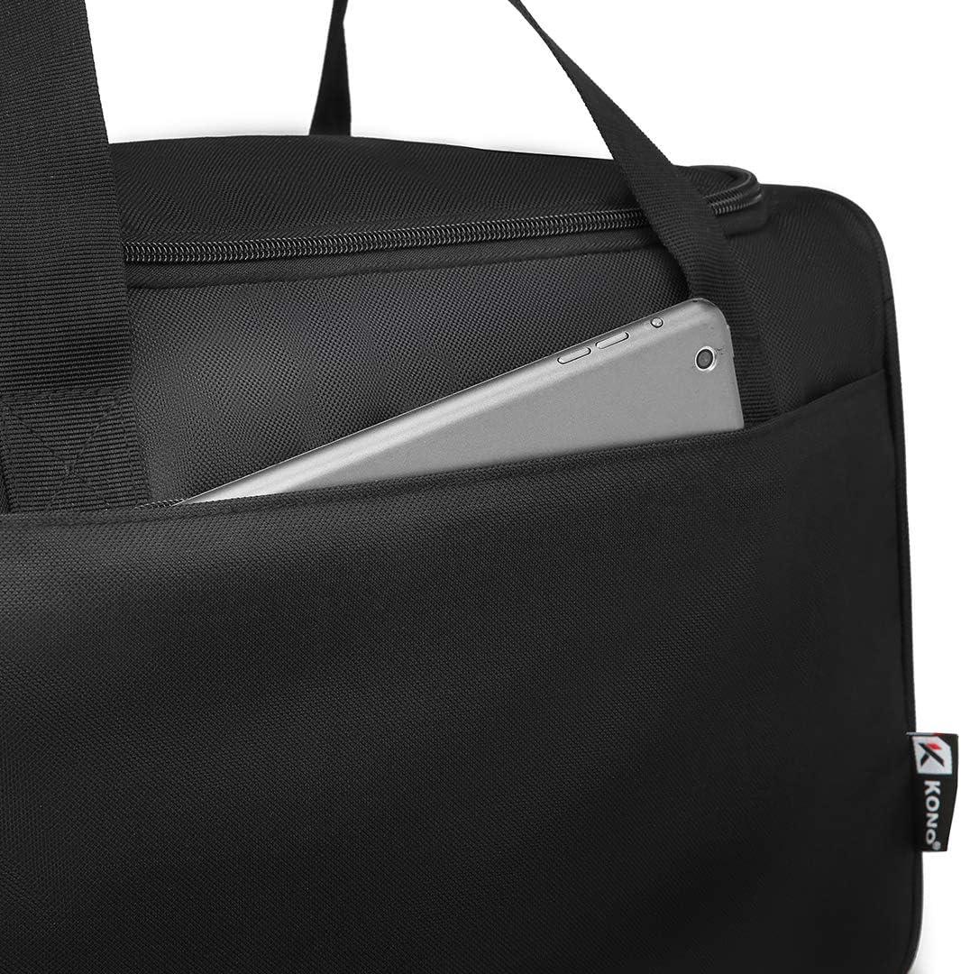Gris Kono Bolsa de Viaje Ligero 40x20x25 Maleta de Cabina Segundo Equipaje para Vuelos en Ryanair 20L
