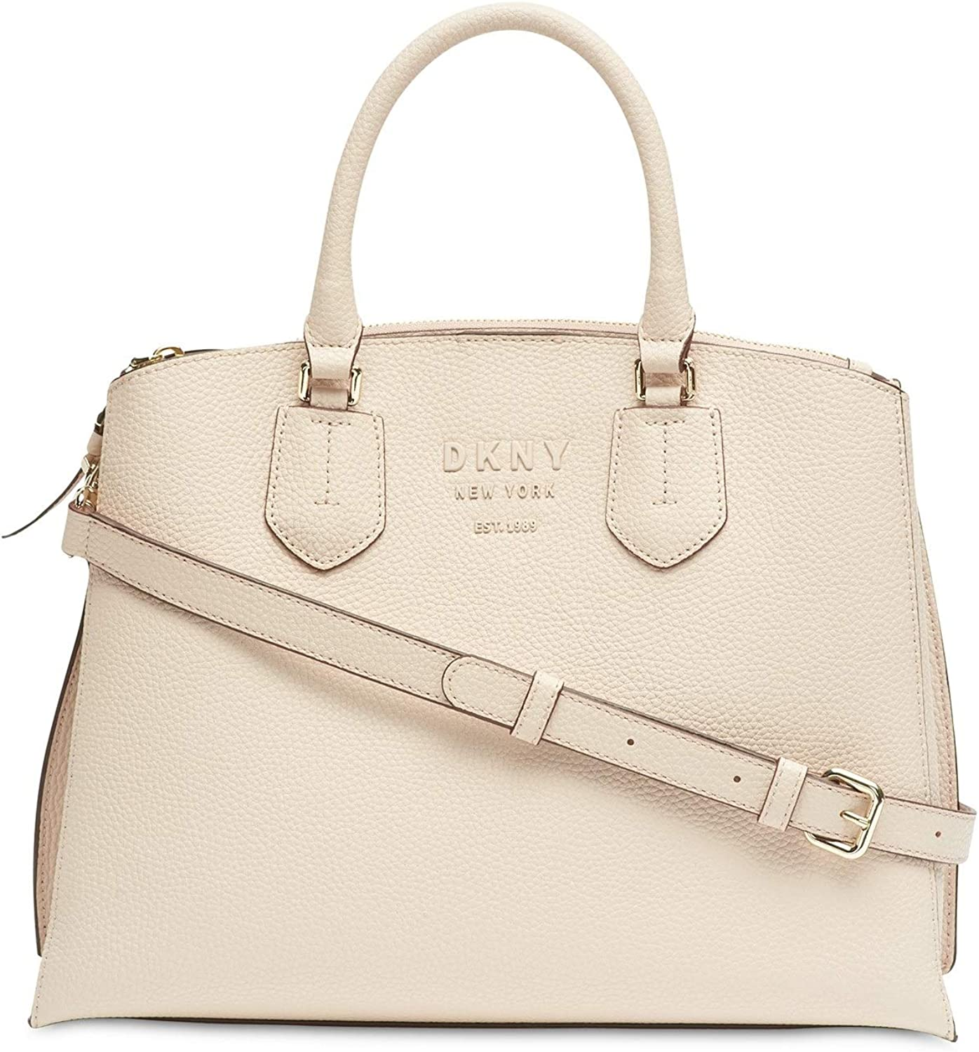 DKNY Sullivan Leather Triple Compartment Leather Pale Pink Women/'s Handbag New!