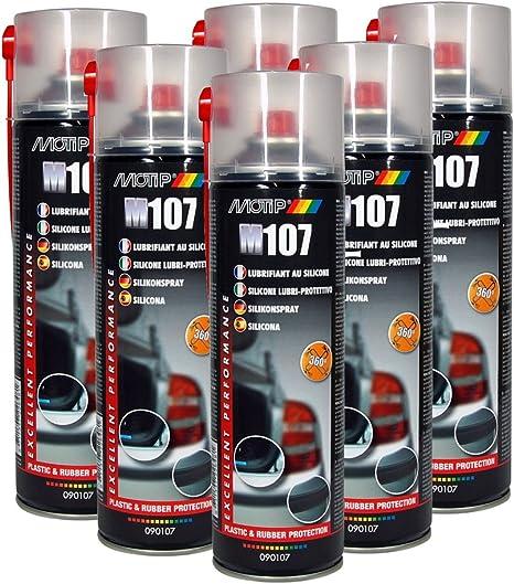 6 Stück Motip M107 Silikonspray 500ml Mit 360 Ventil 2 Düsenköpfen Küche Haushalt